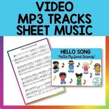 Music Class Hello Song Bundle: Videos, Mp3 Tracks