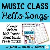 Music Class Hello Song Bundle: Songs, Videos, Mp3 Tracks