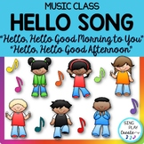"Music Class Hello Song: ""Hello, Hello Good Morning to You"" Video, Mp3 Tracks"