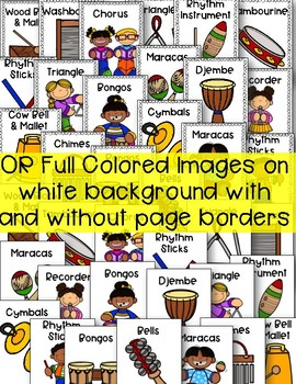 Music Class Instrument Posters