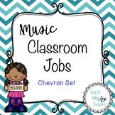 Music Class Jobs - Blue Chevron Set