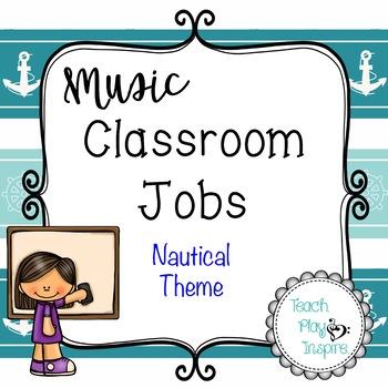 Music Class Jobs - Nautical Theme
