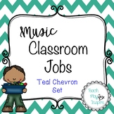 Music Class Jobs - Teal Chevron Set