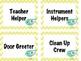 Music Class Jobs - Yellow Chevron Bird Theme
