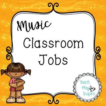 Music Class Jobs - Yellow orange music