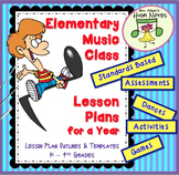 Music Class Lesson Plans for a Year Condensed, K-4th grades