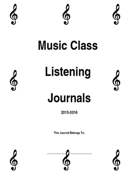 Music Class Listening Journals