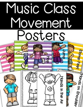Music Class Movement Posters