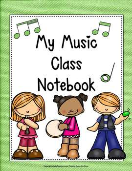 Music Class Notebook Cover and labels