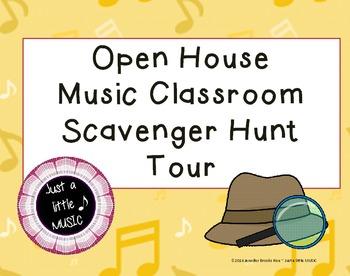 """Music Class """"Open House"""" Scavenger Hunt Tour"""
