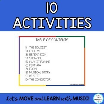 Creative Movement Parachute Activities - Music, PE, Movement Games & Activities