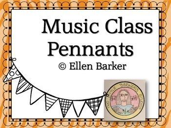 Music Class Pennants