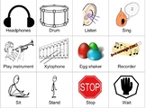 Music Class Picture Cards   Autism/ELL