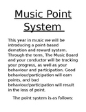 Music Class Point System