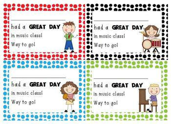 Music Class Positive Notes