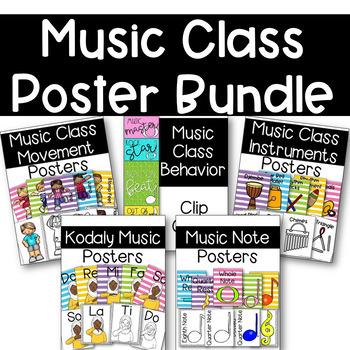 Music Class Poster Bundle