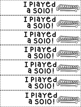 Music Class Printable Rewards