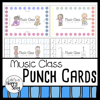 Music Class Punch Cards