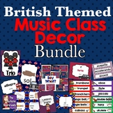 Music Class Room Decor - British Theme