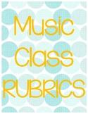 Music Class Rubric Bundle