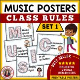 Music Classroom Rules: Decor Set 1