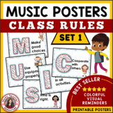 Music Classroom Rules: Music Room Posters: Music Decor Kit Set 1