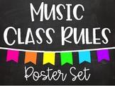 Music Class Rules - Chalkboard Brights