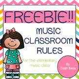 Music Class Rules- FREEBIE!!!!