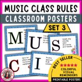 Music Rules: Set 3 Classroom Decor