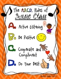 Music Class Rules Poster