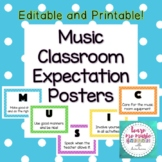 Music Class Rules Posters Printable