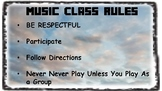 Music Class Rules and Orff Xylophone Rules