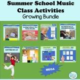 Music Class Summer School Activities MEGA Growing Bundle