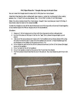 Music Education - Triangle Stand made with PVC pipe Plans