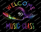 Music Class Welcome Sign printable