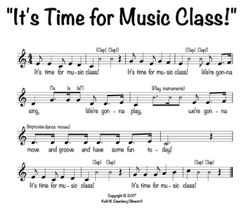"""""""It's Time for Music Class!"""" Welcome Song"""