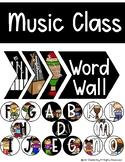 Music Class Word Wall