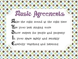 Music Classroom Agreements