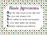 Music Classroom Agreements