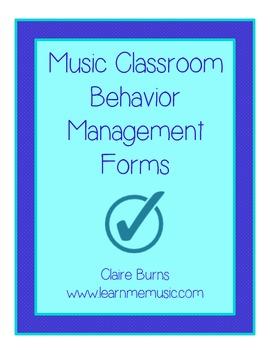 Music Classroom Behavior Management Forms
