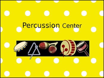 Music Classroom Centers Signs-Polka Dot Theme