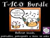 Music Classroom Decor Bundle:  Let's TACO 'bout Music