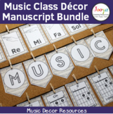 Music Classroom Decor Bundle - Manuscript Background