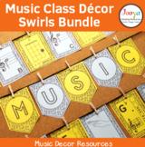Music Classroom Decor Bundle - Swirls Background
