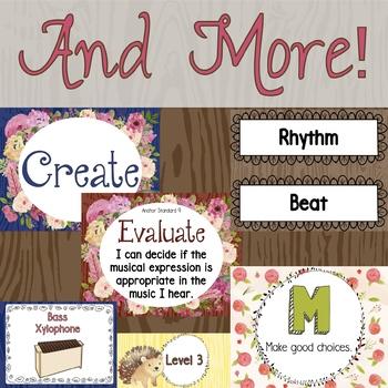 Music Classroom Decor Bundle: Woodland / Forest