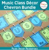 Music Classroom Decor Bundle - Chevron Background