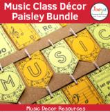 Music Classroom Decor Bundle - Paisley Background