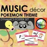 Music Classroom Decor: Pokemon Themed Dynamics Posters