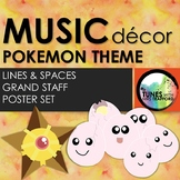 Music Classroom Decor: Pokemon Themed Lines & Spaces Posters
