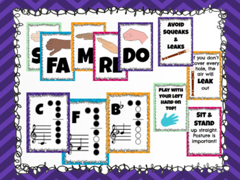 Music Classroom Decor Posters - Bold Chevron Bundle